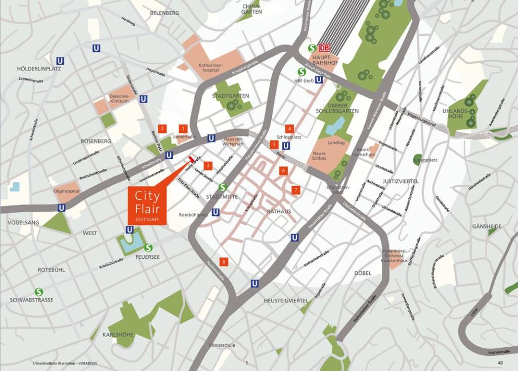 Lageplan CityFlair